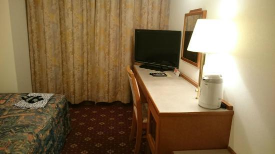 Hotel Paco Jr Kitami : デスク周り