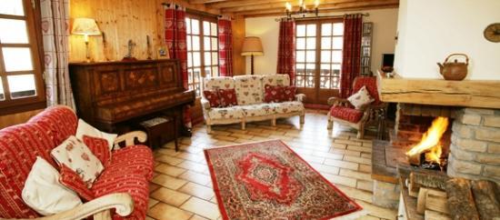 Chalet des Arbres: Living Room