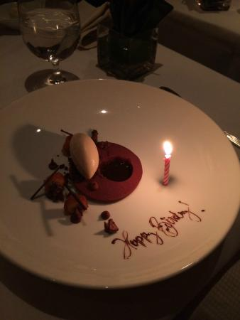 Birthday cake Cafe Bouludstyle Picture of Cafe Boulud New York