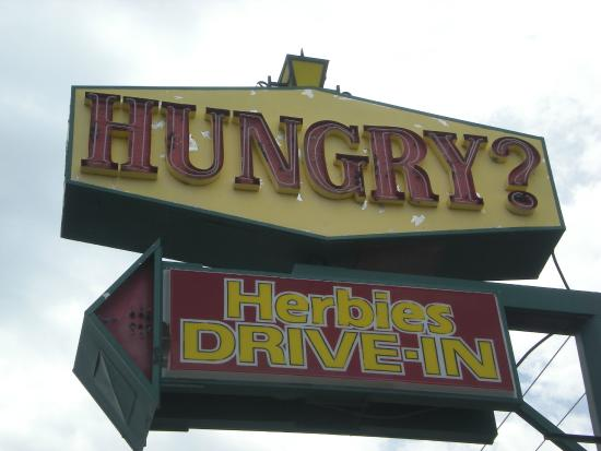 Hungry Herbie's Drive In: The sign