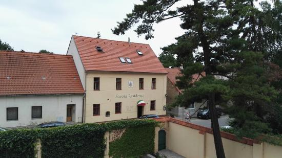 Skvorec, República Checa: Vista dal Castello di fronte
