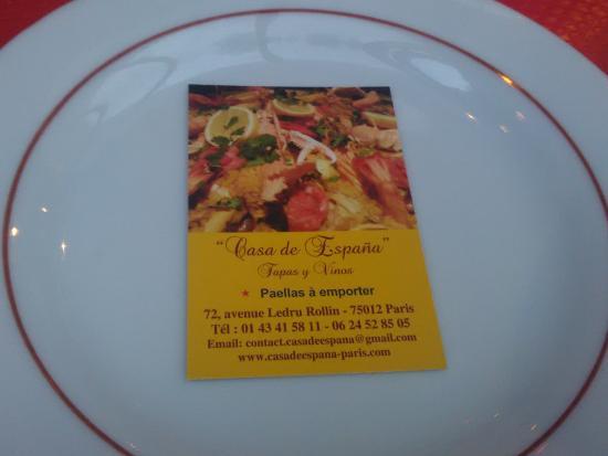 Casa De Espana La Carte Visite Du Restaurant