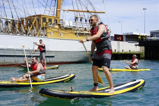 Weymouth, UK: Paddleboard chillaxing