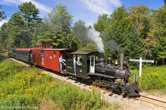 Alna, ME: Ride our historic steam train through the countryside over a railway first built in 1894!
