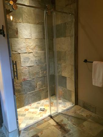 Shower Slate Tiles Gl Barn Doors
