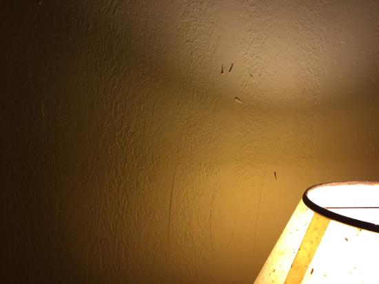 ValStay Inn & Suites: Knife marks in the wall stained floors broken air conditioning