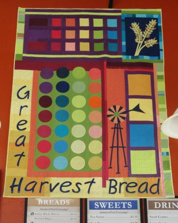 Great Harvest Bread Company: Colorful quilt on the wall