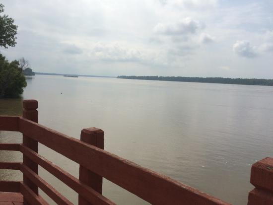 New Madrid, MO: A view of the Mississippi River from the observation deck.
