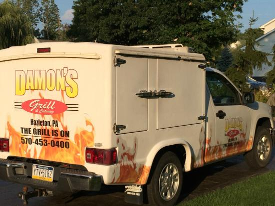 Damon's Sports Bar & Grill: WE Cater! Our insulated truck, keeps your food hot and fresh.