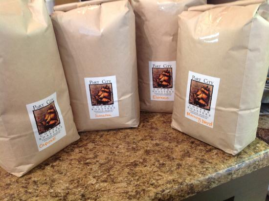 Coffee Break Cafe: We use locally roasted beans...keeping it fresh!
