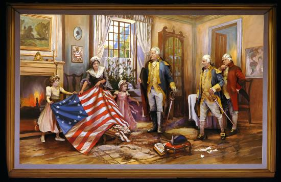 Moran Betsy Ross Presenting Flag Picture Of Pageant Of The