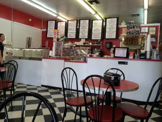 Milky Moo's : Fun old fashion ice cream shop that also serves soups, salads & sandwiches.  Friendly staff