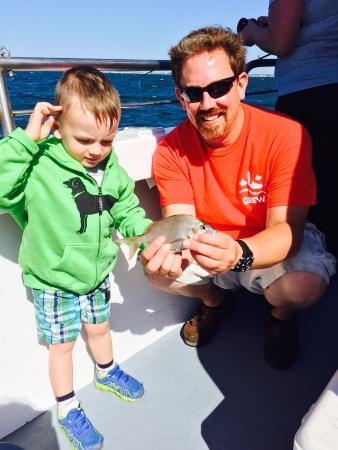 Cap'n Kids Fishing Adventures: Thanks to the Captain for helping my son catch his first fish!