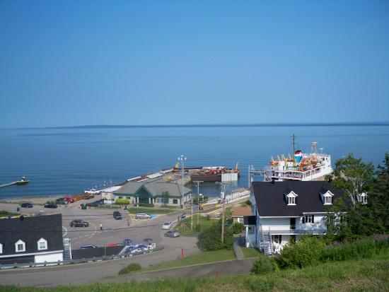 Riviere-du-Loup & Saint-Simeon Ferry: View of the Dock from Public parking area on the hill