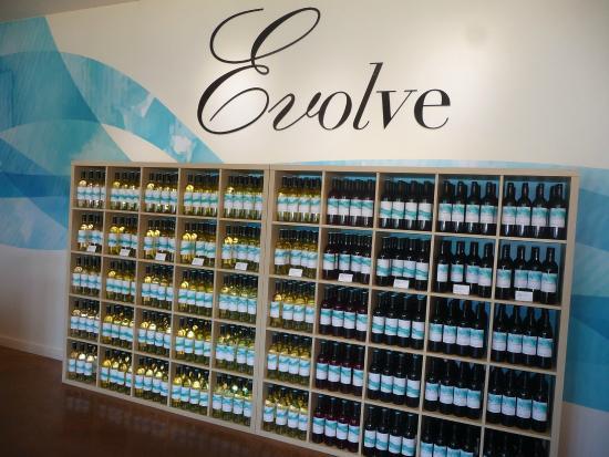 Evolve Cellars: insdie selection.