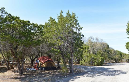 Whitney, TX: Tent areas