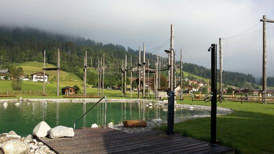 Almdorf Flachau: Basen/staw hotelowy