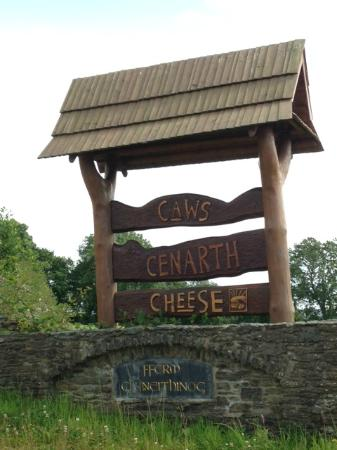 The sign for Caws Cenarth Cheese