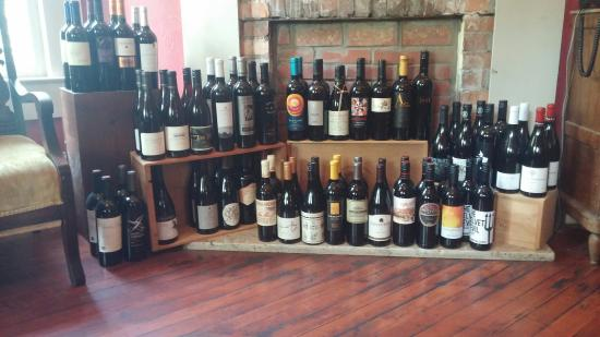 Live Oak Cafe: Some of the wines