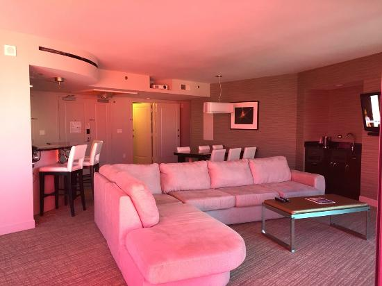 Living room in 4 Bedroom unit at Elara - Picture of Elara by Hilton ...