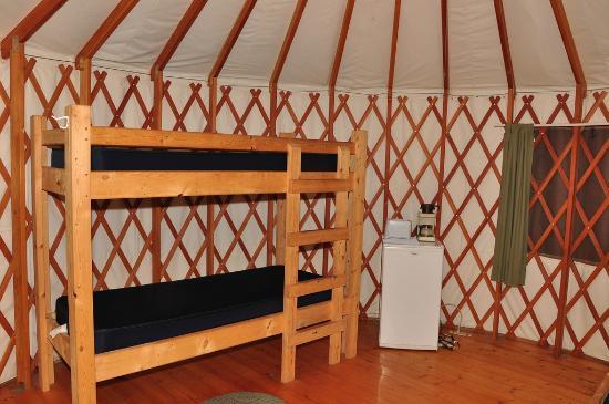 Tranquil Timbers Camping Resort: Yurt interior