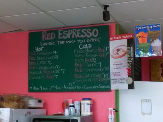"""NovelTeas Tea Shop: """"Espresso"""" Menu"""