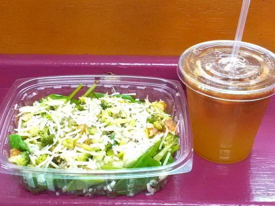 NovelTeas Tea Shop: My delicious, refreshing salad and espresso.