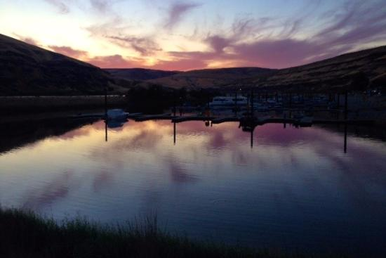 Colfax, WA: Sunset, Boyer Marina, Snake River