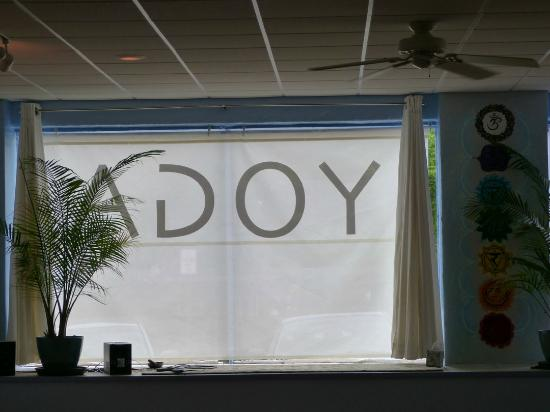Asheville Yoga Center: Window in Donation Studio