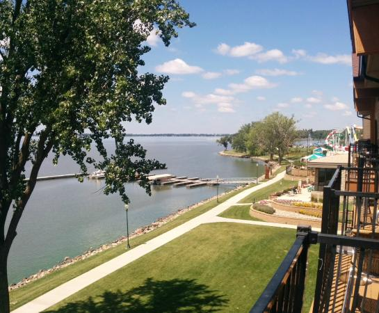 Storm Lake, IA: View from Room 300 deck
