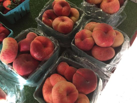 Naples, NY: Donut peaches for sale at Joseph's