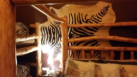 Buffalo Peaks Bed and Breakfast : Zebra Skin on wall in Mt. Princeton Room