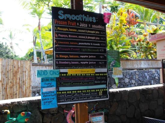 South Kona Fruit Stand: スムージーメニュー