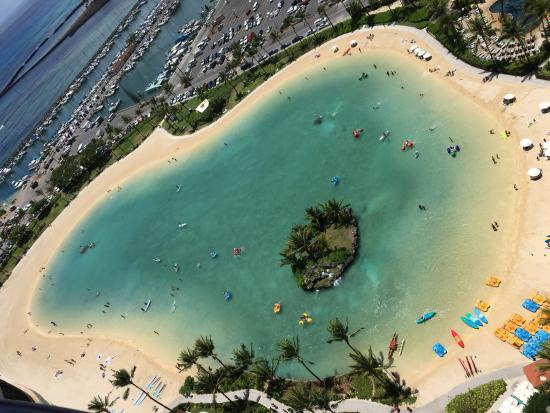 Hilton Hawaiian Village Waikiki Beach Resort The Lagoon Has Some Great Water Sport Stuff Along