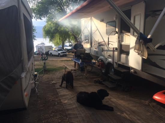 Nk'Mip Campground & RV Resort: Stalls need to be a bit larger to enjoy your camping experience ��