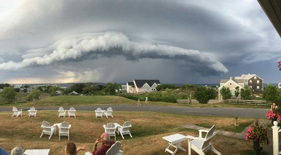 Great view of the storm today... From the Atlantic Inn