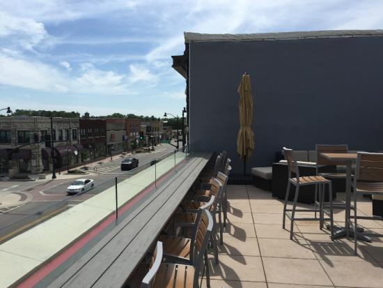 Tallgrass Brewing Company: Rooftop Patio/bar
