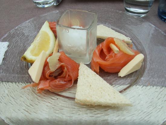 Restaurant Le Commerce: Saumon fumé maison
