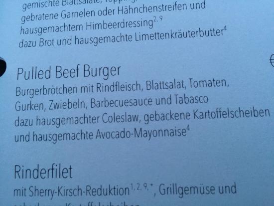 Pulled Beef Burger Auf Der Karte Picture Of Upero Darmstadt