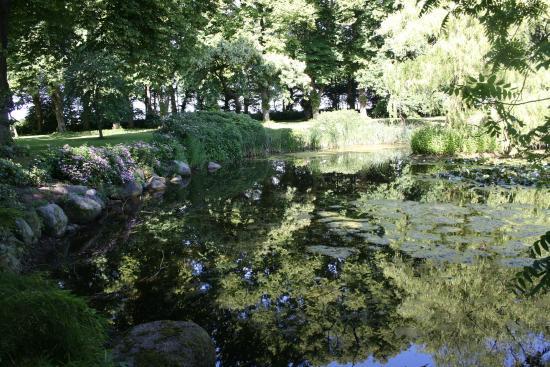 Gavno Slotspark : Dammanläggning i parken