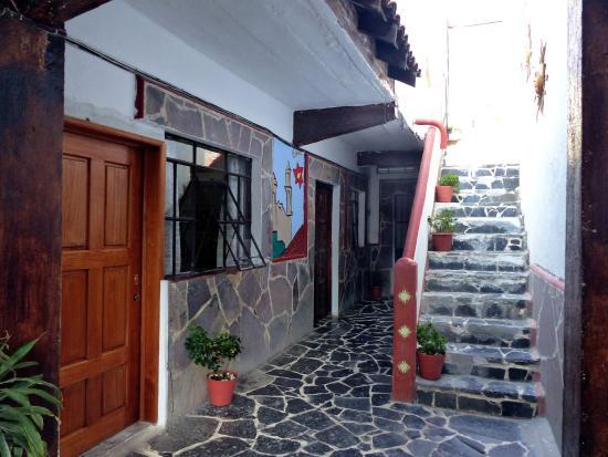 Casa Grande: A escada que sobe ao terraço.