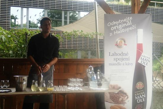 La Bouchee: summer cocktails prepared with the shot of almond liquer from Moravian town of Hustopece