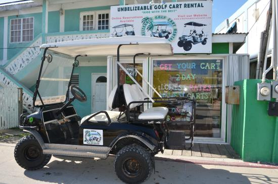 Ambergris Caye, Belize: Office Location for Unbelizeable Golf Cart