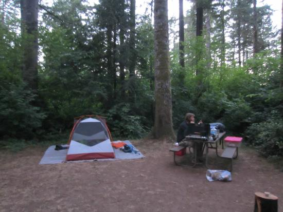American Heritage Campground: tent site