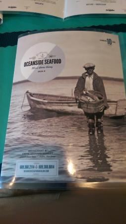 Oceanside Seafood: menu cover