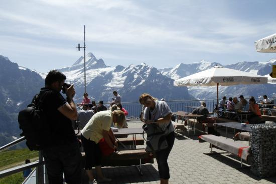 Grindelwald, İsviçre: The terrase on First