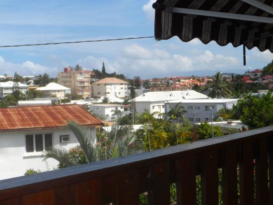 Motel Le Bambou: Du balcon de la chambre