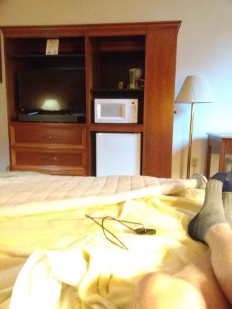 Eagle's Nest Hotel & Conference Center: Room showing tv unit