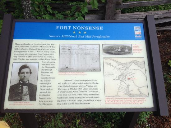 Mathews, เวอร์จิเนีย: Fort Nonsense Historical Park