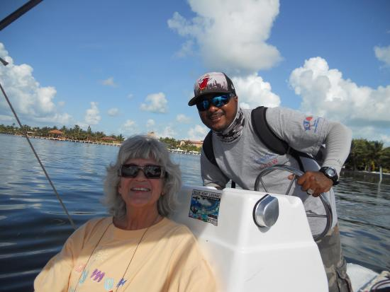 Ambergris Museum & Cultural Center: me and the captain, Gerald